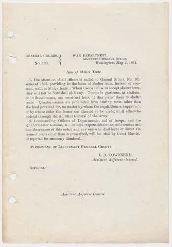 General Orders, No. 189 (GRANT, Ulysses S.)