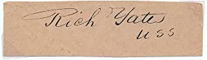 Free-Franked Signature / Unsigned Portrait.: YATES, Richard (1815-73).