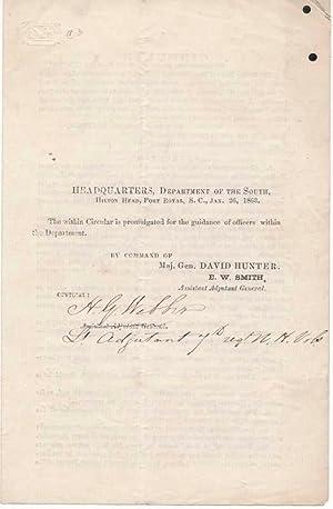 Printed Document Signed: WEBBER, H.G. (?-?)
