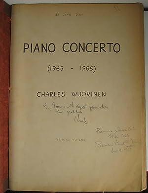 Piano Concerto (1965 -- 1966).: WUORINEN, Charles.