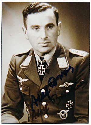 Photograph Signed: BORCHERS, Adolf (1913-96)