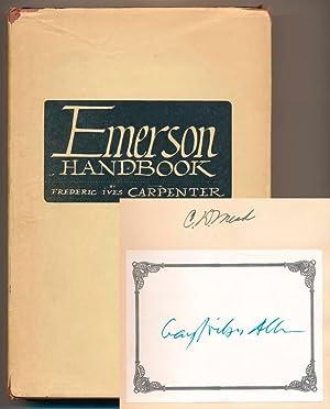 Emerson Handbook.: CARPENTER, Frederic Ives.