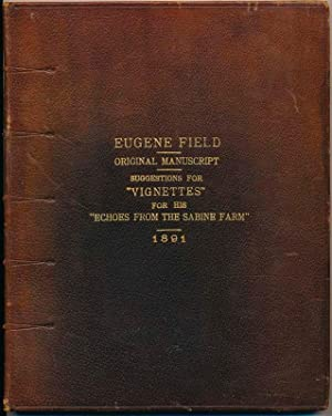 Autograph Manuscript (unsigned).: FIELD, Eugene (1850-95).