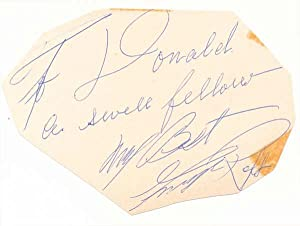 Signatures and Inscriptions / Unsigned Photograph: RAFT, George (1895-1980), and HASSO, Signe ...