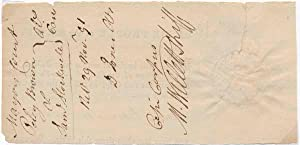 Document Signed (partial).: WILLETT, Marinus (1740-1830).