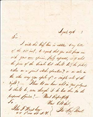 Autograph Letter Signed.: POWELL, George May (1835-1905).