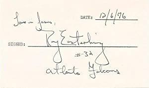 Signature and Inscription.: EASTERLING, Ray (1949-2012).