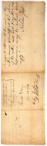 Document Signed.: WILLETT, Marinus (1740-1830).