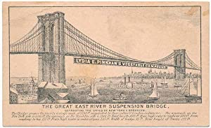 The Great East River Suspension Bridge Connecting the Cities of New York & Brooklyn