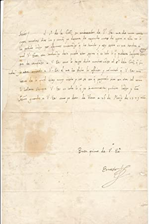Autograph Letter Signed.: ERNEST, Archduke (1553-95).
