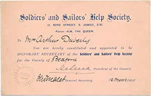 Document Signed: HELENA VICTORIA (Princess Christian) (1846-1923)