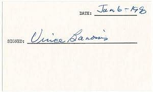 Autograph Letter Signed / Signature: BANONIS, Vince (1921-?)