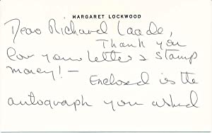 Autograph Note Signed / Inscribed Photograph Signed: LOCKWOOD, Margaret (1916-90)