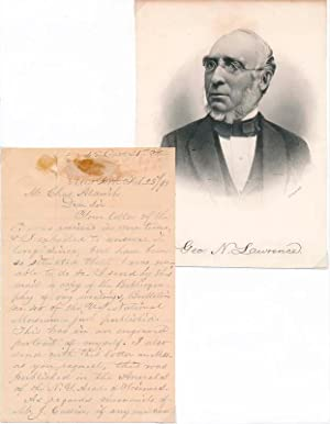 Autograph Letter Signed.: LAWRENCE, George N. (1806-95).