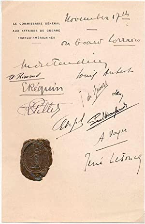 Signature: TARDIEU, Andre (1876-1945)