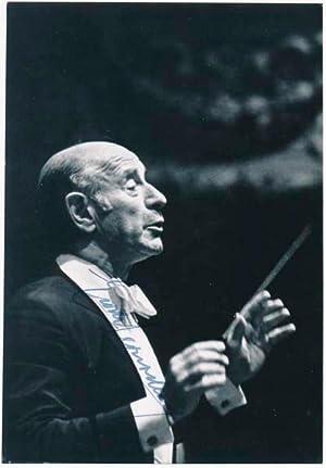 Photograph Signed.: LEINSDORF, Erich (1912-93).