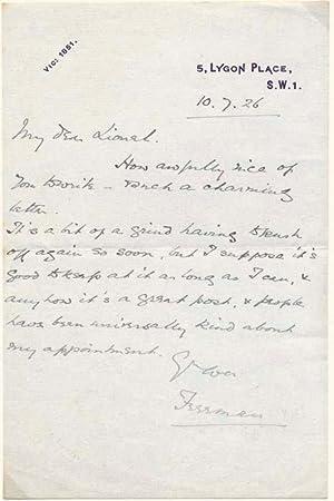 Autograph Letter Signed: FREEMAN, John (1880-1928)