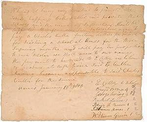 Autograph Document Signed.: CUTLER, Ephraim (1767-1853).