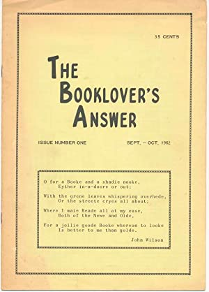 The Booklover's Answer: Issues Number One through Thirteen