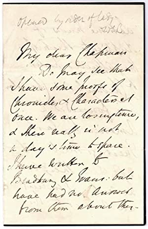 Autograph Letter Signed.: LYTTON, Edward Robert Bulwer (1831-91).