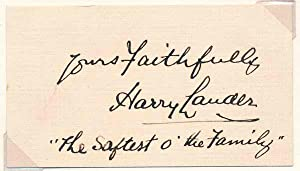 Signature and Inscription.: LAUDER, Harry (1870-1950).