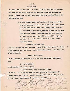 Typed Manuscript Signed.: HURLBUT, William J. (1883-1957).