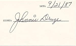 Signature / Autograph Note Signed: DRUZE, Johnnie (1914-2005)