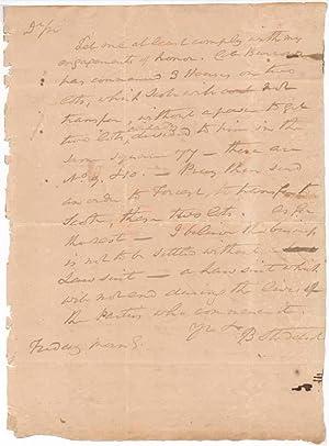 Autograph Letter Signed.: STODDERT, Benjamin (1751-1813).