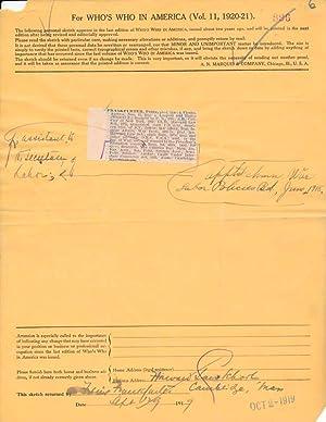 Document Signed / Unsigned Photograph.: FRANKFURTER, Felix (1882-1965).