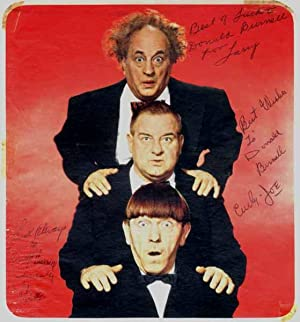 Inscribed Photograph Signed.: THREE STOOGES: HOWARD, Moe (1897-1975), FINE, Larry (1902-75), and DE...