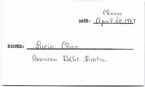 Signature: CHASE, Lucia (1907-86)