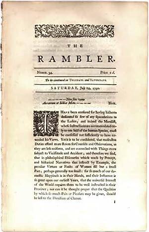 The Rambler: Saturday, July 14, 1750.: JOHNSON, Samuel (editor).