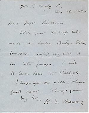 Autograph Letter Signed: MANNING, Henry E. (1808-92)
