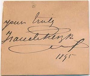 Signature and Inscription.: RESZKE, Jean de (1850-1925).