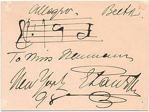 Autograph Musical Quotation Signed: PAUR, Emil (1855-1932)