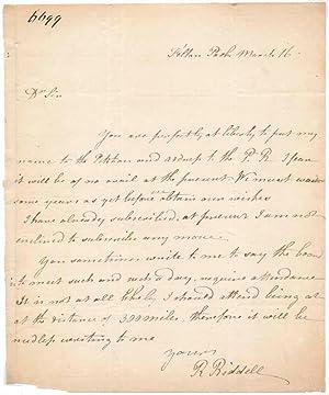 Autograph Letter Signed: RIDDELL, Robert (1755-1794)