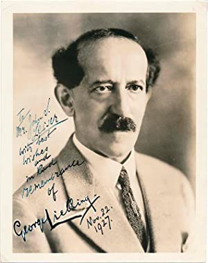 Inscribed Photograph Signed.: LIEBLING, George (1865-1946).
