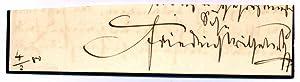 Signature: FRIEDRICH WILHELM IV (1795-1861)