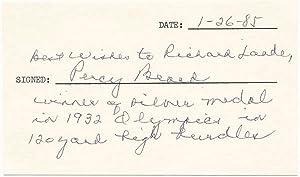 Signature and Inscription: BEARD, Percy (?-1990)
