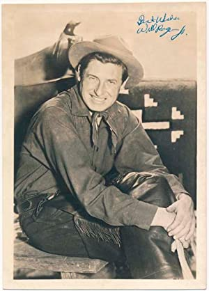 Photograph Signed.: ROGERS, Will, Jr. (1912-93).