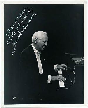 Inscribed Photograph Signed.: PENNARIO, Leonard (1924-2008).