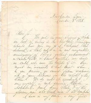 Autograph Letter Signed.: ALMY, William E. (1810-70).