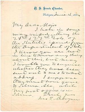 Autograph Letter Signed.: MORGAN, John T. (1825-1907).