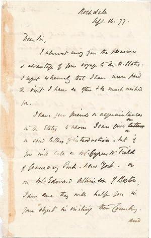 Autograph Letter Signed: BRIGHT, John (1811-89)