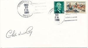 Signed Postal Cover.: HUNTLEY, Chet (1911-74).