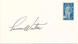 Signed Postal Cover.: WINTER, Lumen M. (1908-82).