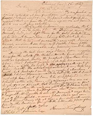 Autograph Letter Signed.: KINGSBURY, Harmon (1826?-1868).