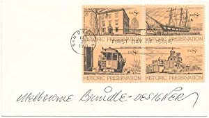 Signed First Day Cover.: BRINDLE, Melbourne (1904-95).