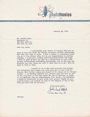 Typed Letter Signed: OTT, John Nash, Jr. (1909-2000)