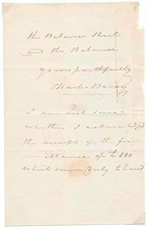 Autograph Letter Signed.: BARRY, Charles (1795-1860).